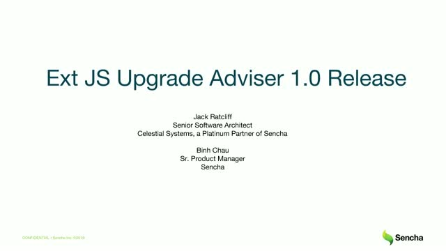 Sencha - Expedite the Upgrade Process with Ext JS Upgrade Adviser
