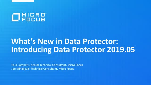 What's New in Data Protector? Introducing Data Protector 2019.05