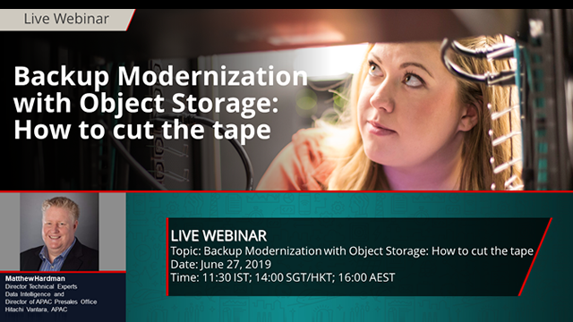 Backup Modernization with Object Storage: How to cut the tape