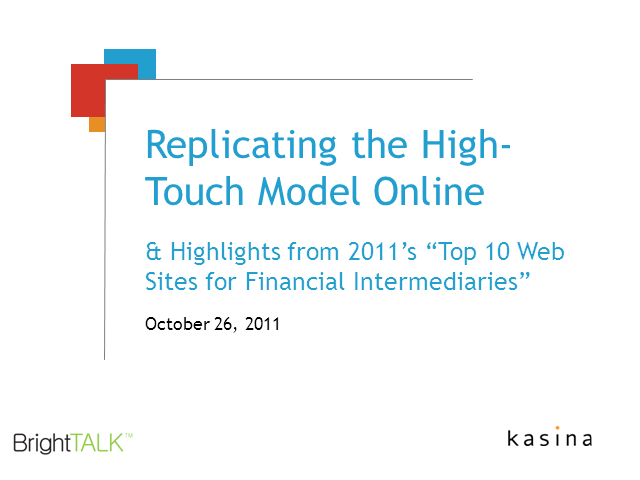 Replicating the High-Touch Model Online