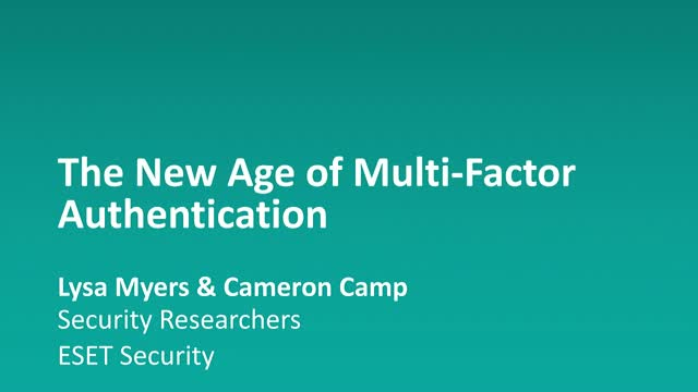 The New Age of Multi-Factor Authentication