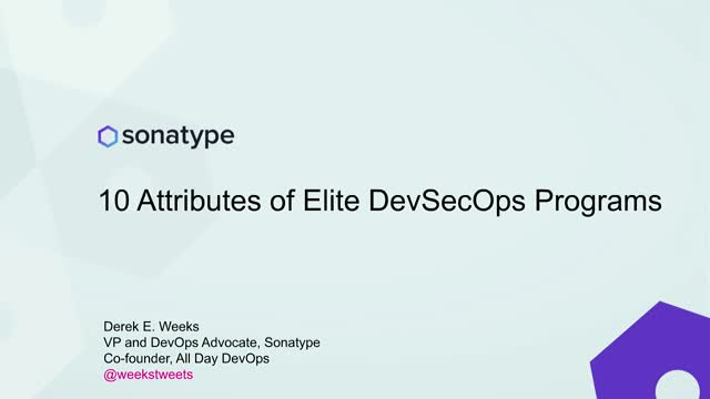 10 Attributes of Elite DevSecOps Programs
