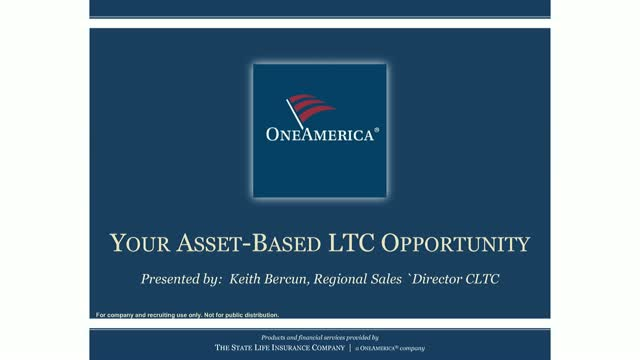 OneAmerica: Your Asset-Based LTC Opportunity