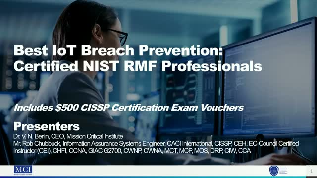 Best IoT Breach Prevention: Certified NIST RMF Professionals
