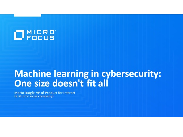 Machine learning in cybersecurity: One size doesn't fit all