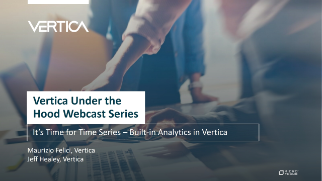 It's Time for Time Series – Built-in Analytics in Vertica