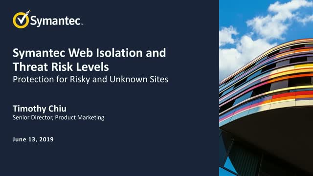 Web Isolation and Threat Risk Levels: Protection for Risky and Unknown Websites.