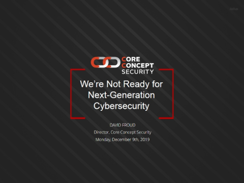 We are not ready for Next-Generation Cybersecurity