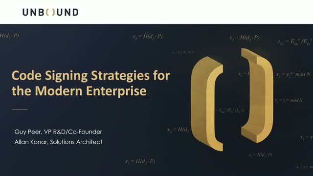 Code-Signing Strategies for the Modern Enterprise