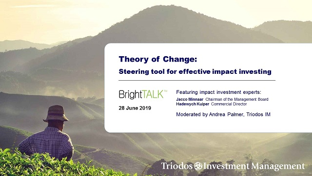 Theory of Change: Steering tool for effective impact investing
