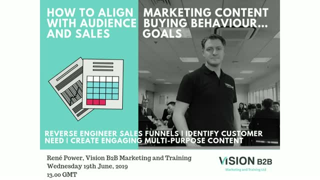 How to align marketing content with audience buying behaviour…and sales goals