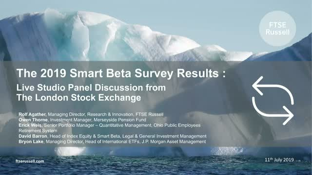 2019 Smart Beta Survey Results - Live Studio Panel Discussion