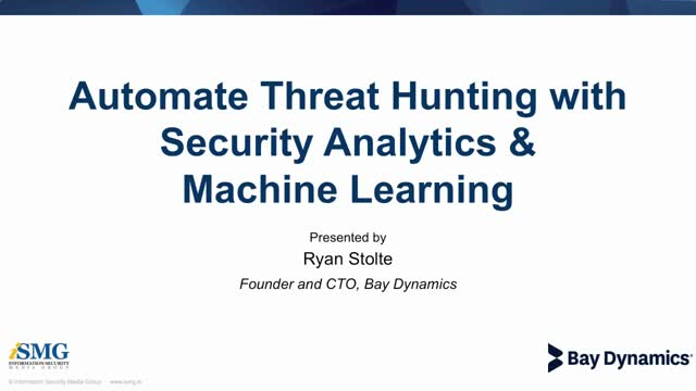 Automate Threat hunting With Security Analytics & Machine Learning