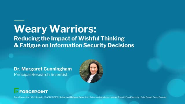 Weary Warriors: Reducing the Impact of Fatigue on Infosec Decisions