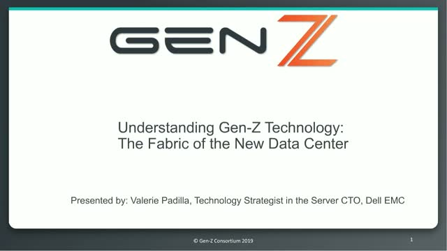 Understanding Gen-Z Technology: The Fabric of the New Data Center