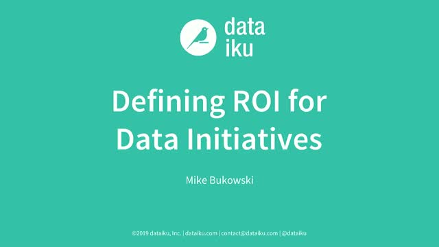Defining ROI for Data Initiatives