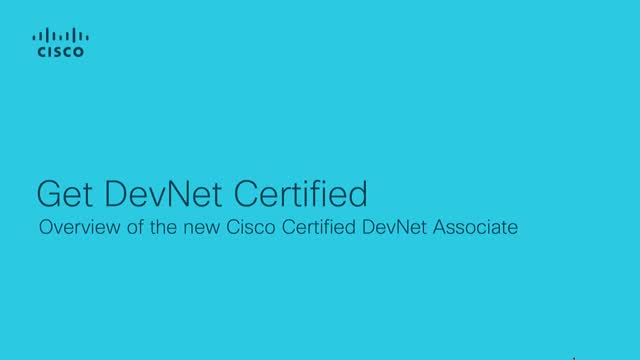 Cisco DevNet Certification Program - Associate