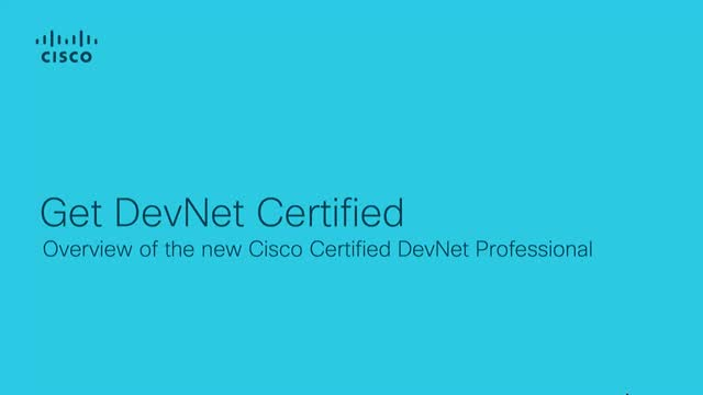 Cisco DevNet Certification Program - Professional