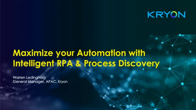 Using Intelligent Process Discovery to Maximize your Automation