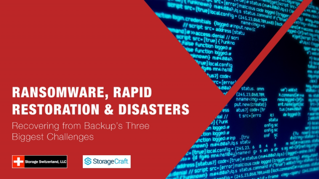Ransomware, Rapid Restoration and Disasters - Recovering from Backup's Big Three
