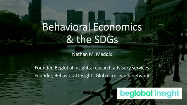 Behavioral Economics & the SDGs