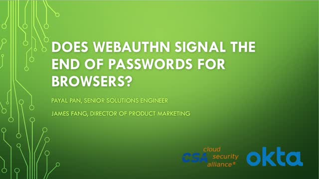 Does WebAuthn Signal the End of Passwords for Browsers?