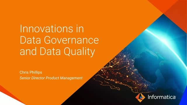Meet the Experts: Innovations in Data Governance and Quality