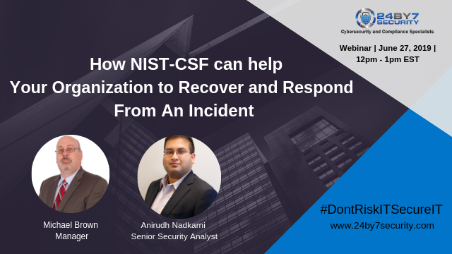 How NIST-CSF Can Help Your Organization Recover and Respond From An Incident