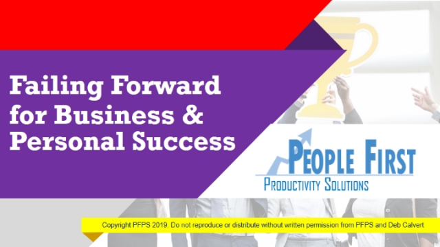 Failing Forward for Business & Personal Success