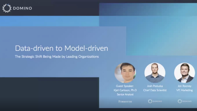 Data-driven to Model-driven