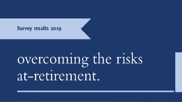 Overcoming the risks at-retirement live webinar