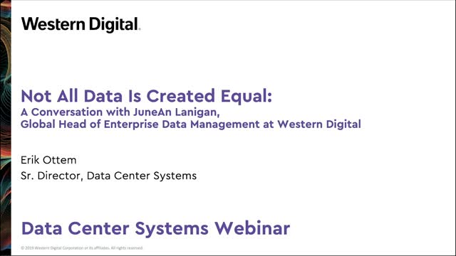 Not All Data is Created Equal: Lessons Learned from a Data Mgmt Expert