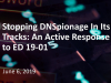 Stopping DNSpionage In Its Tracks: An Active Response to ED 19-01