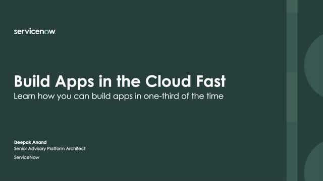 How to Build Cloud Apps at Lightening Speed