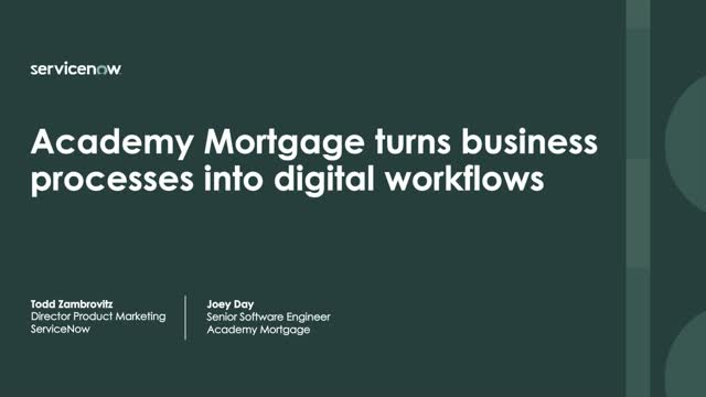 How Academy Mortgage Developed 40 Custom Apps & Revolutionized Digital Workflows