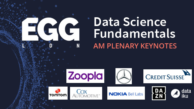 Livestream: EGG LDN 2019 - Advanced Analytics in the Field - AM Plenary Sessions