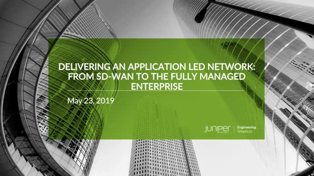 Delivering an Application Led Network
