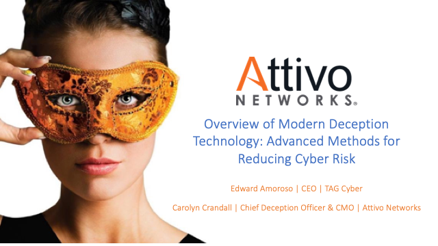 Modern Deception Technology: Advanced Methods for Reducing Cyber Risk