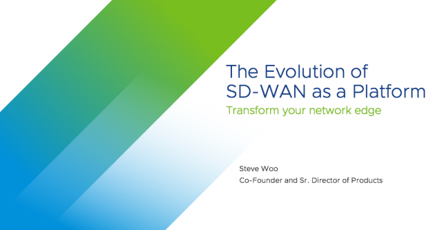 Evolution of SD-WAN as a Platform
