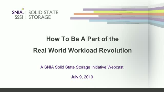 How to Be a Part of the Real-World Workload Revolution