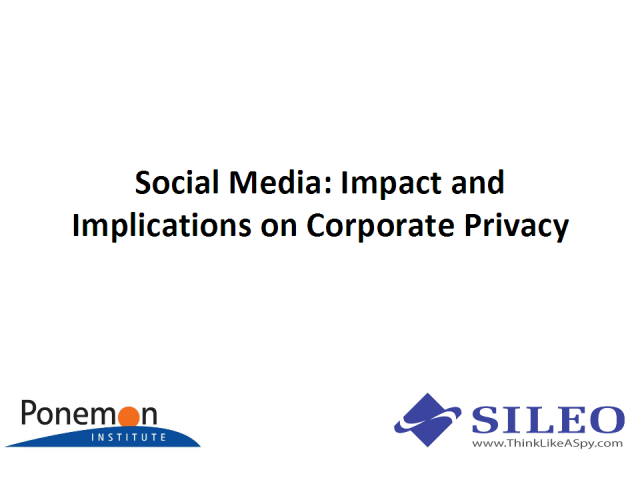 Social Media: Impact and Implications for Corporate Privacy