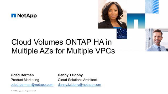 How to Use ONTAP HA and AWS Transit Gate on Multiple VPCs