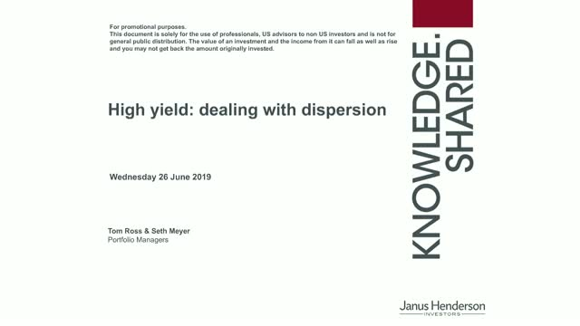 High yield: dealing with dispersion