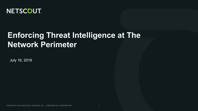 Enforcing Threat Intelligence at The Network Perimeter