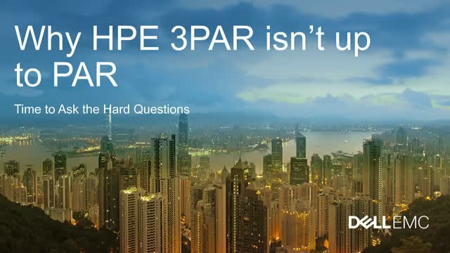 Why HPE 3PAR Isn't Up to Par