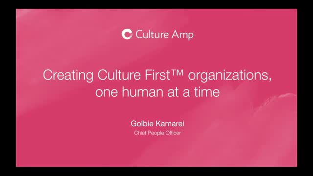Building company cultures one human at a time
