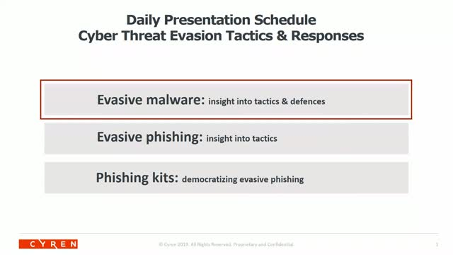 Evasive malware: insight into tactics & defences