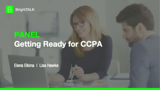 [PANEL] Getting Ready for CCPA