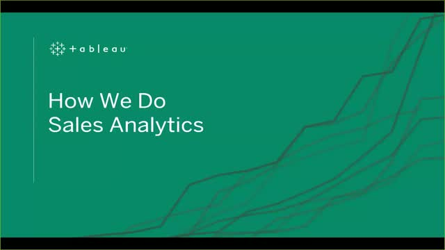 How We Do Sales Analytics