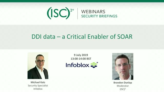DDI data – a Critical Enabler of SOAR